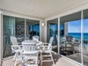 Beach Front Balcony - Furnished with High-top Seating for Four