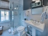 2nd Floor Guest Bathroom - Featuring a Glass Enclosed Shower & Single Vanity