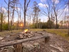 the shared fire pit,