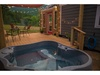 Your hot tub with views of the mountain.