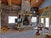 You can enjoy the rustic crackle of the grand fireplace...