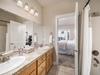 Double sinks in the master bedroom