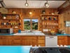 The bright countertops serve as excellent inspiration for fun and funky North Coast meals
