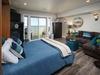 Queen size Murphy bed in bonus room. AS comfy as a regular bed