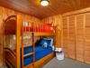 Twin bunks are great for kids and adults alike. Dibs on the top bunk!