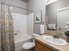 Full bathroom adjacent to 2nd guest bedroom
