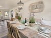 With seating for all six guests the dining room opens in the living space