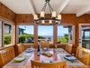The dining area is like having dinner in a classic Chris Craft boat