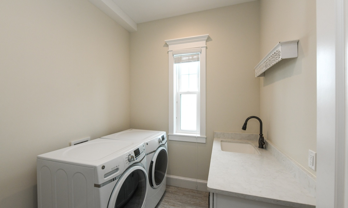 Laundry Room with Washer and Dryer, Blue Marlin - AMI Locals