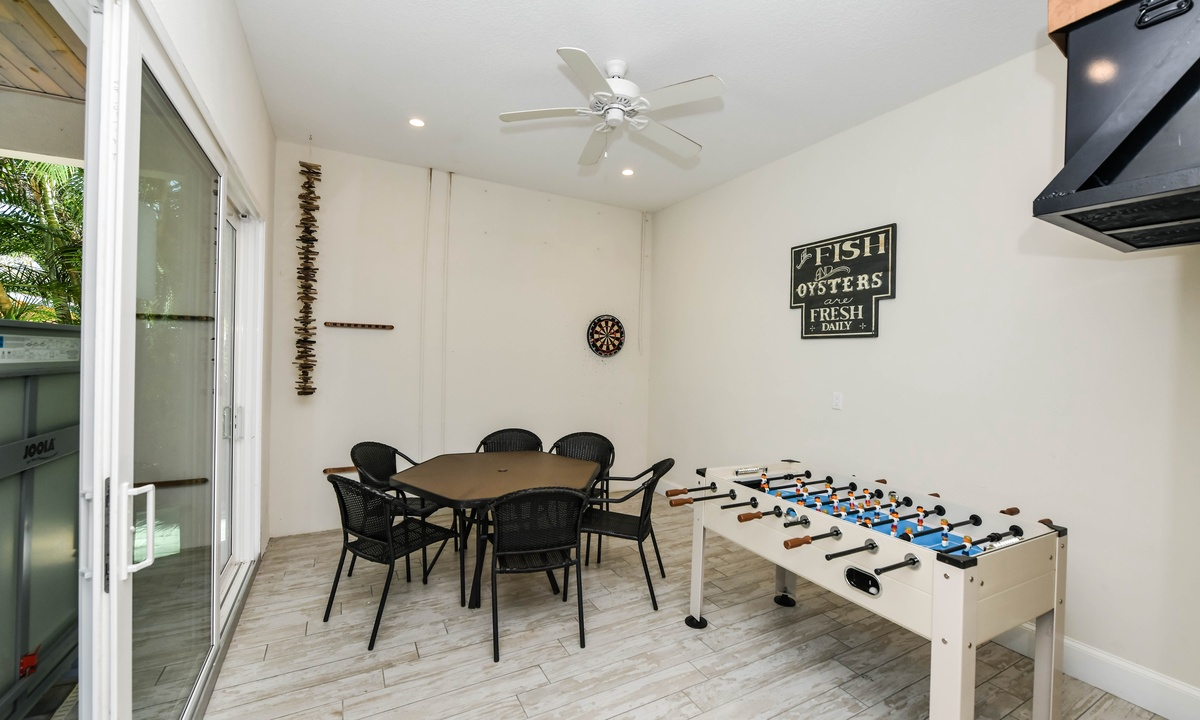 Game Room with Foosball Table, Atlantis Beach House - AMI Locals