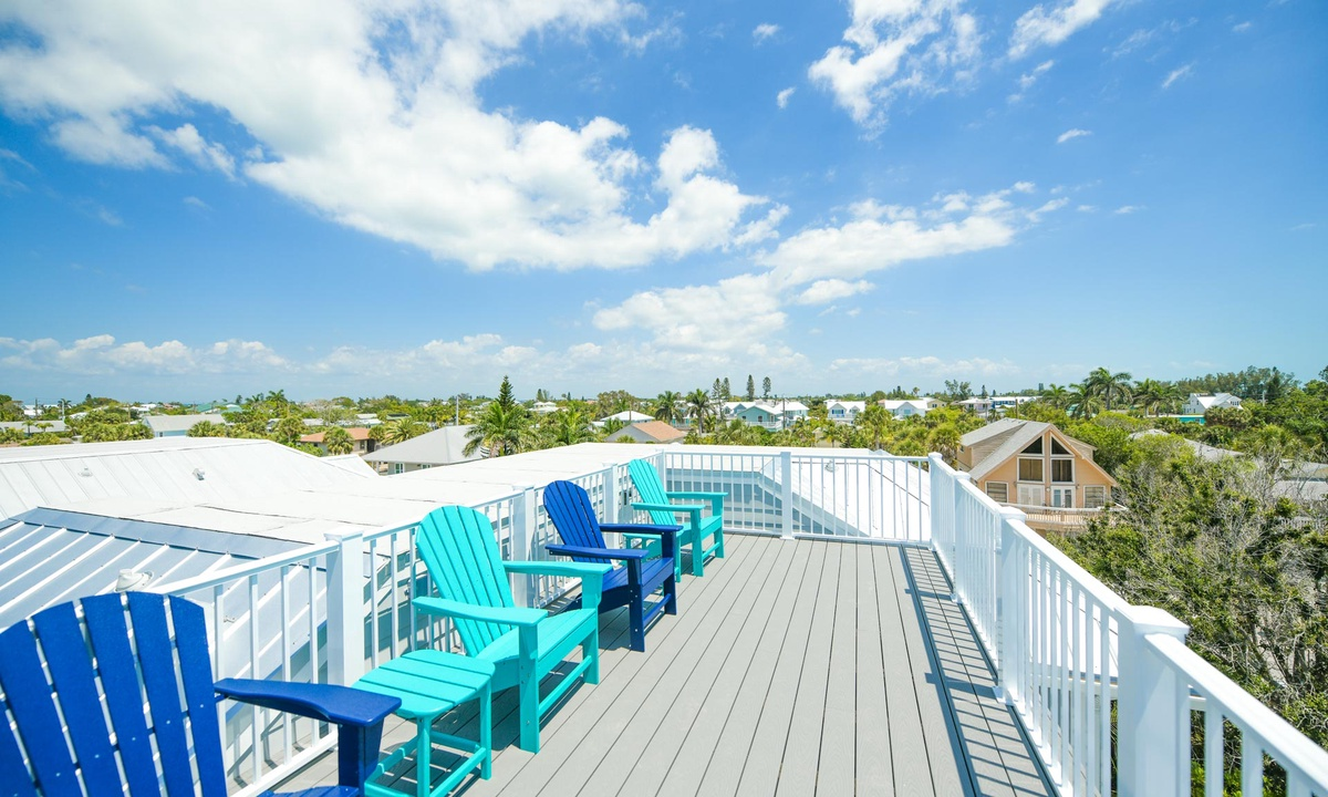Rooftop Deck, Anna Maria Beach House - AMI Locals