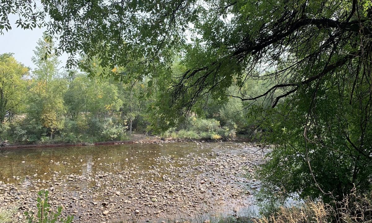 River access down the driveway (low season