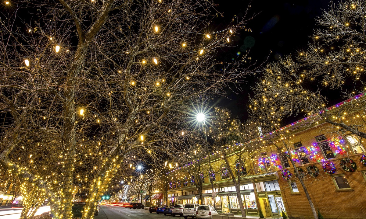 Enjoy the holiday lights in Downtown From November to February!