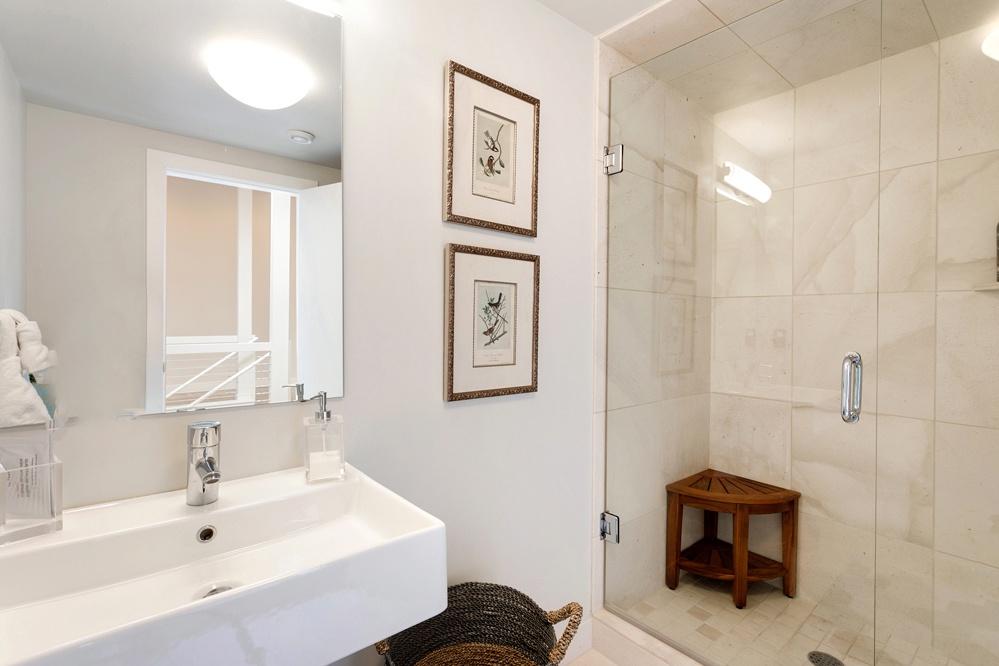 Bathroom 1:  full bath with walk in shower