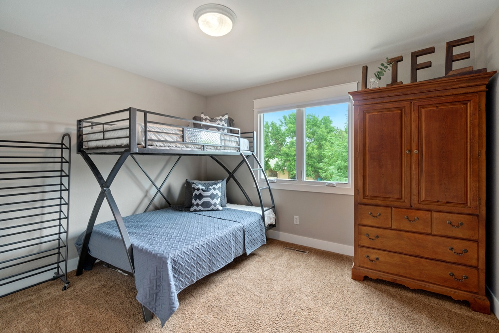 Twin over full bed upstairs
