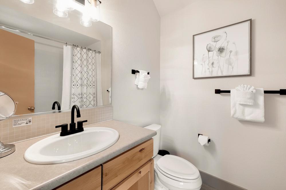 Bathroom 1: Full bath on second floor