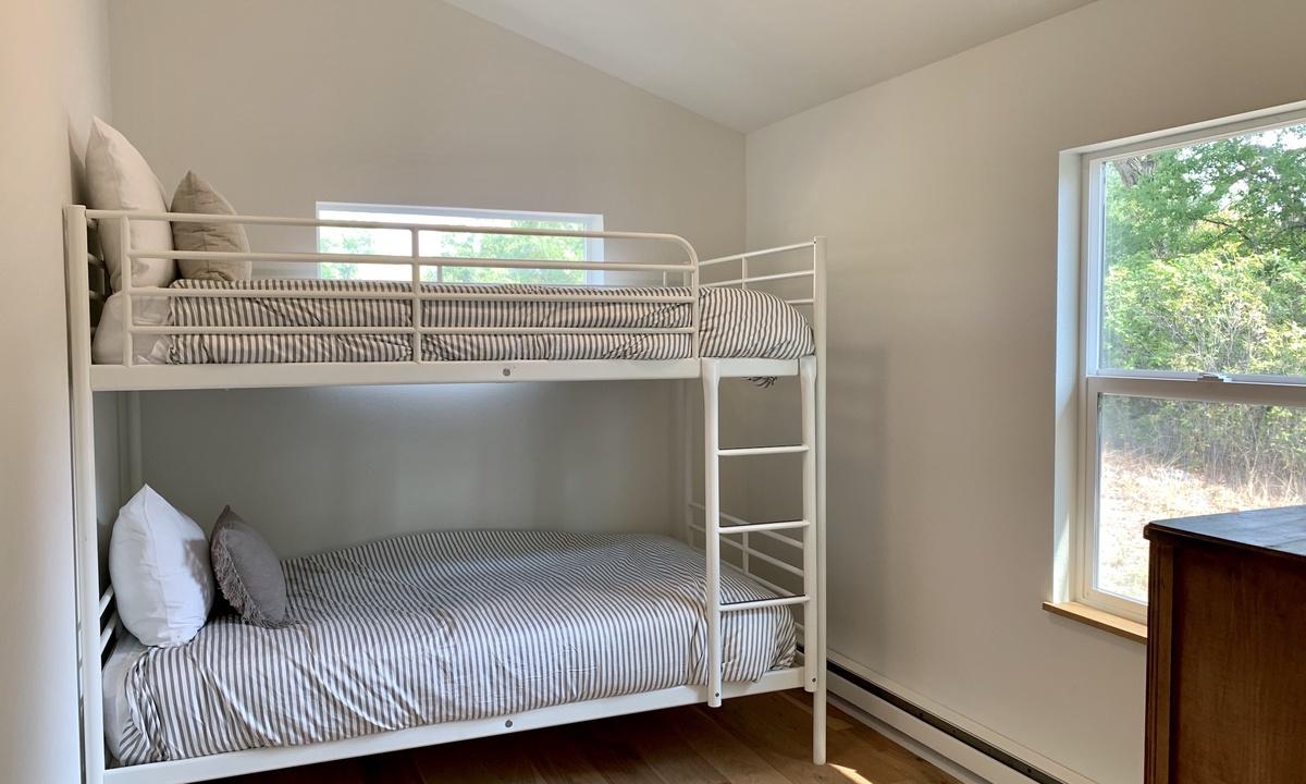 Bedroom 1: Twin bunk beds