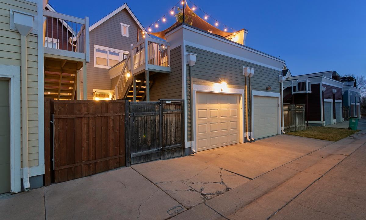 Garage and rooftop deck