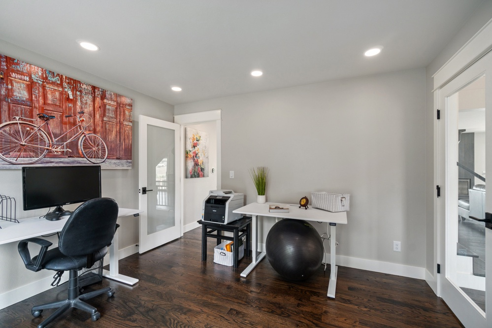 Desk and Work from home room