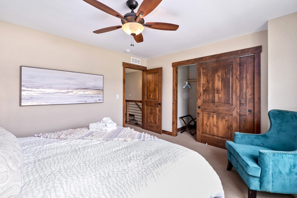 Bedroom 1: king bed upstairs