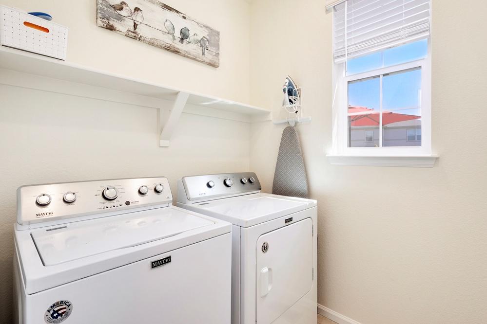 laundry on the main floor