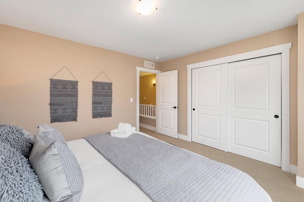 Bedroom 1: King (upstairs)