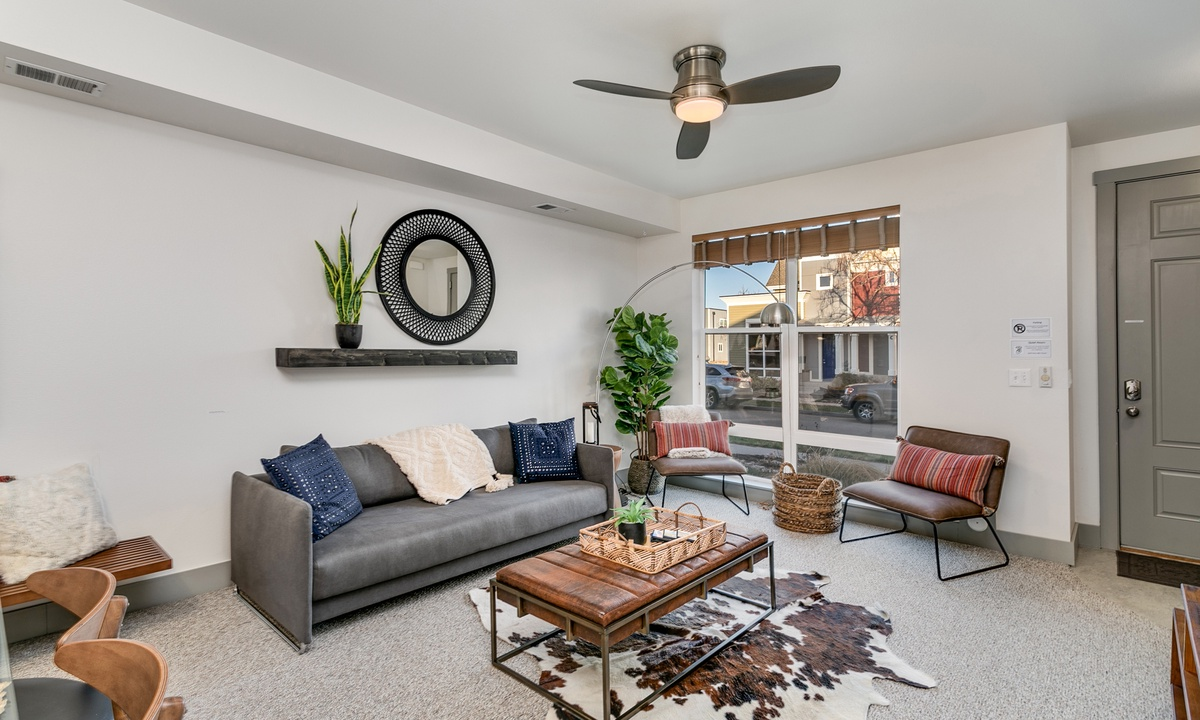 Open living room concept with 55
