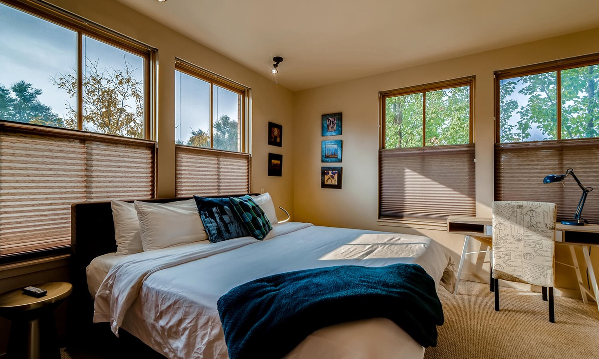 Bedroom 2: King bed with ensuite bath