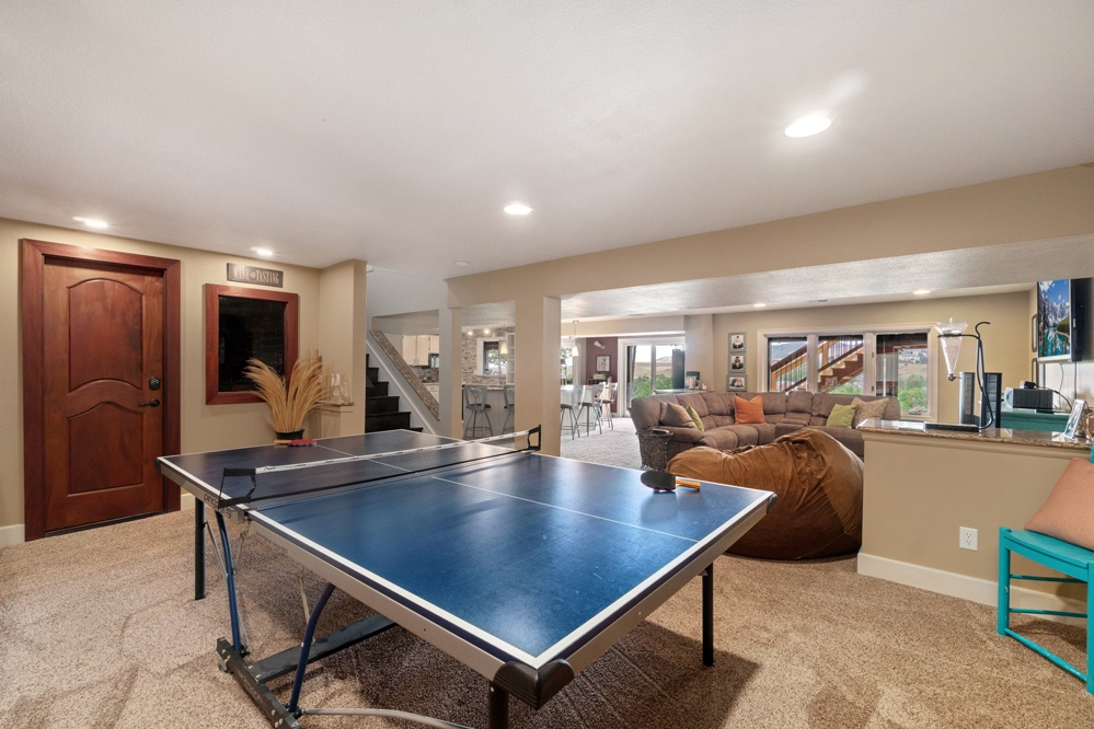 Ping Pong table on lower level!
