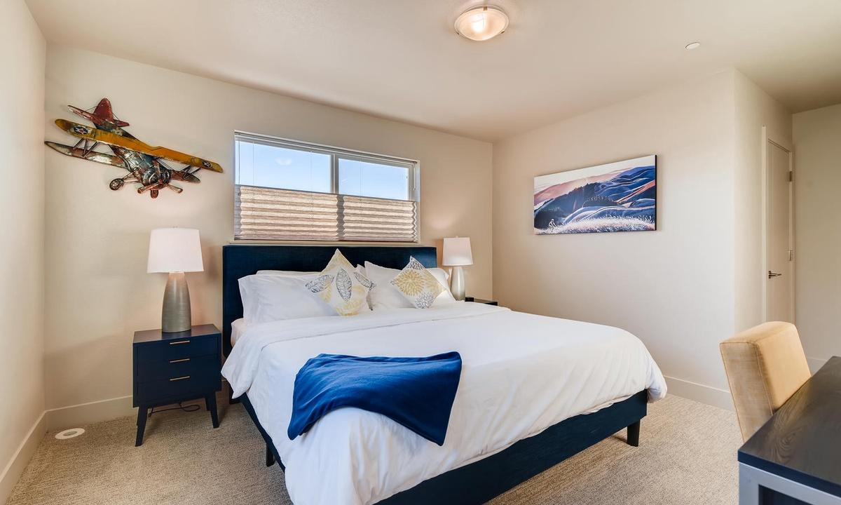 2nd floor bedroom: King