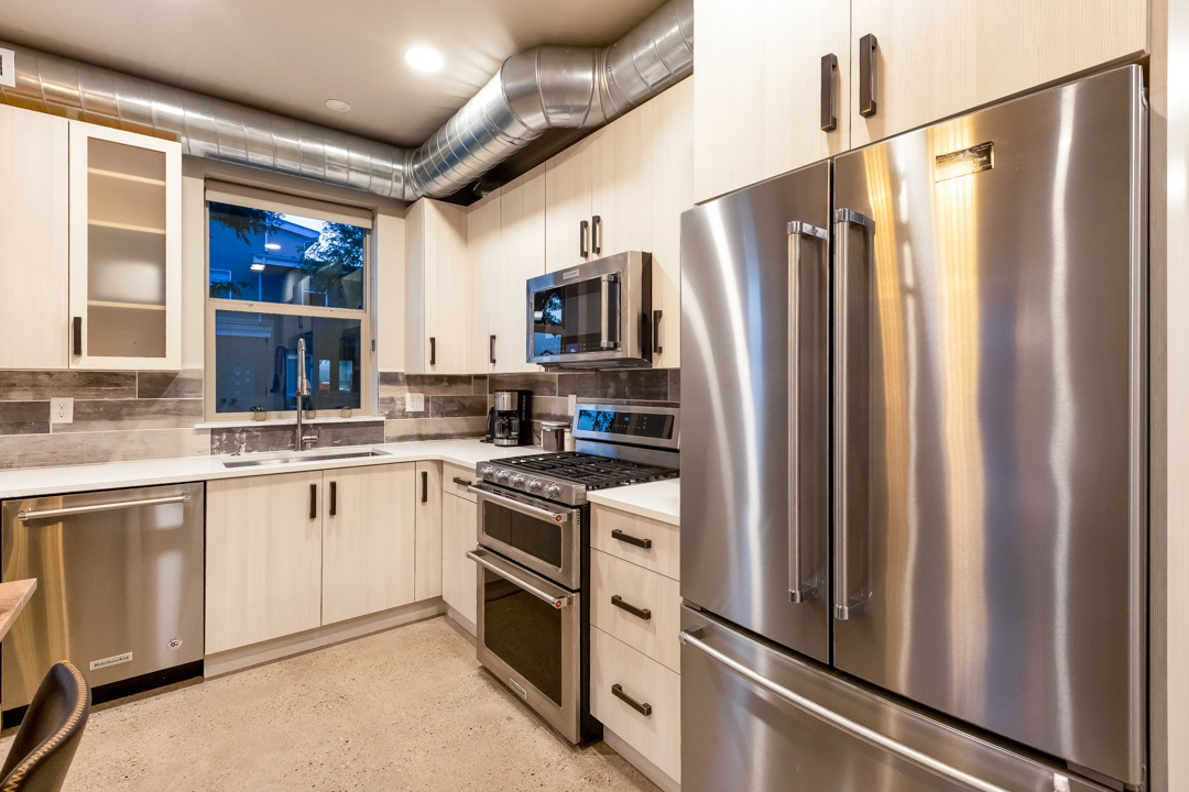 Beautifully remodeled Chef's kitchen with stainless steel appliances