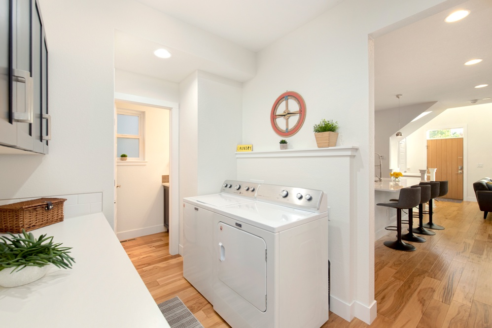 Laundry/mud room on main level