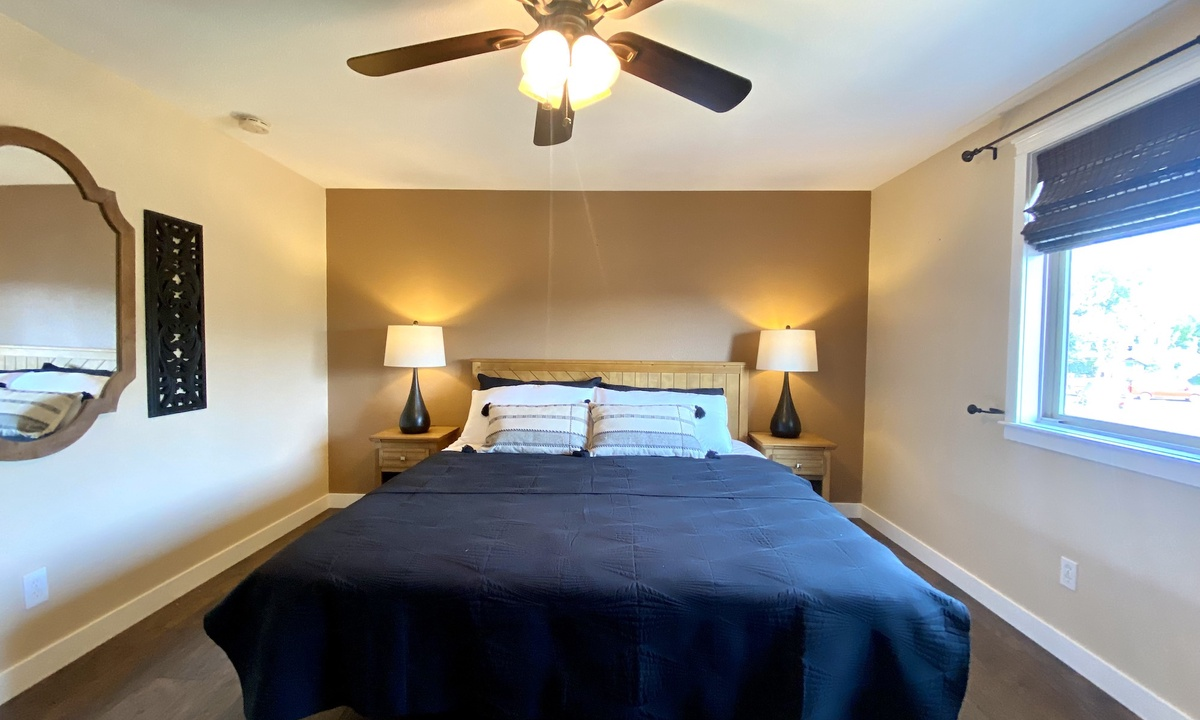 Bedroom 1: King on main floor