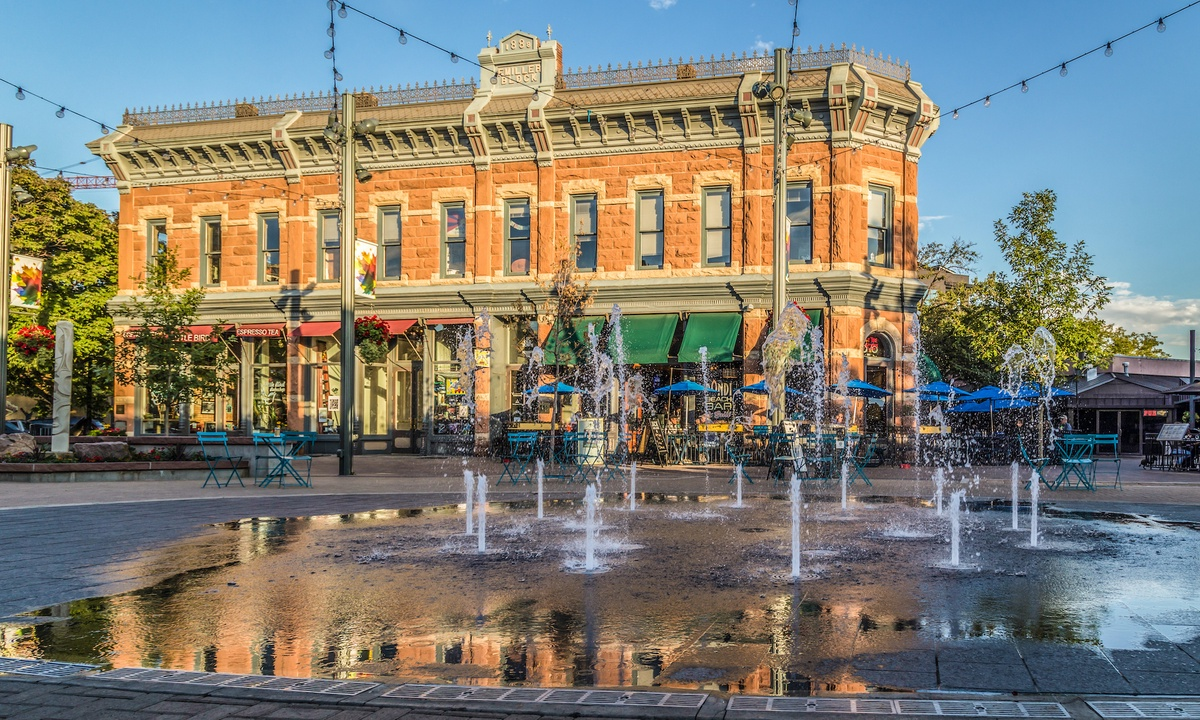 Old Town Square in Old Town Fort Collins