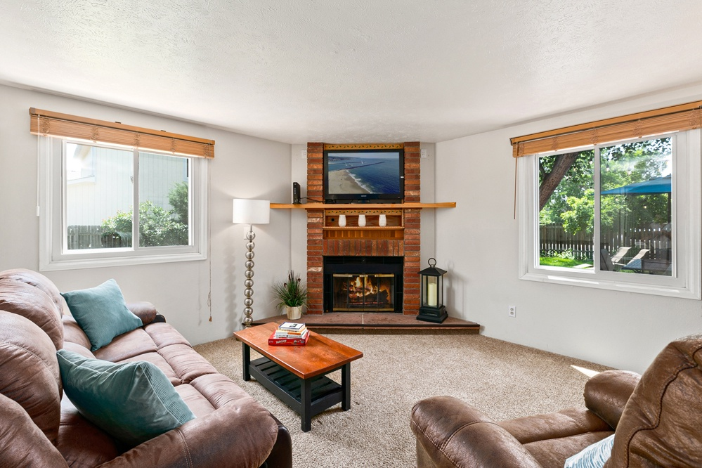 Family room with Smart TV and games
