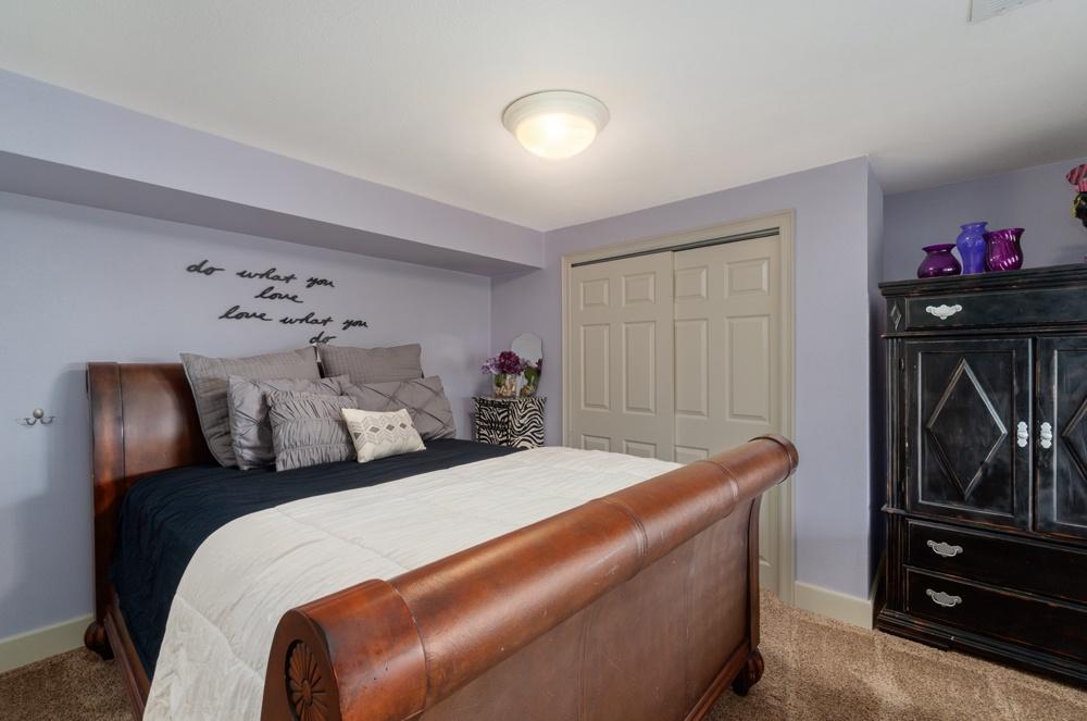 Queen bedroom on lower level