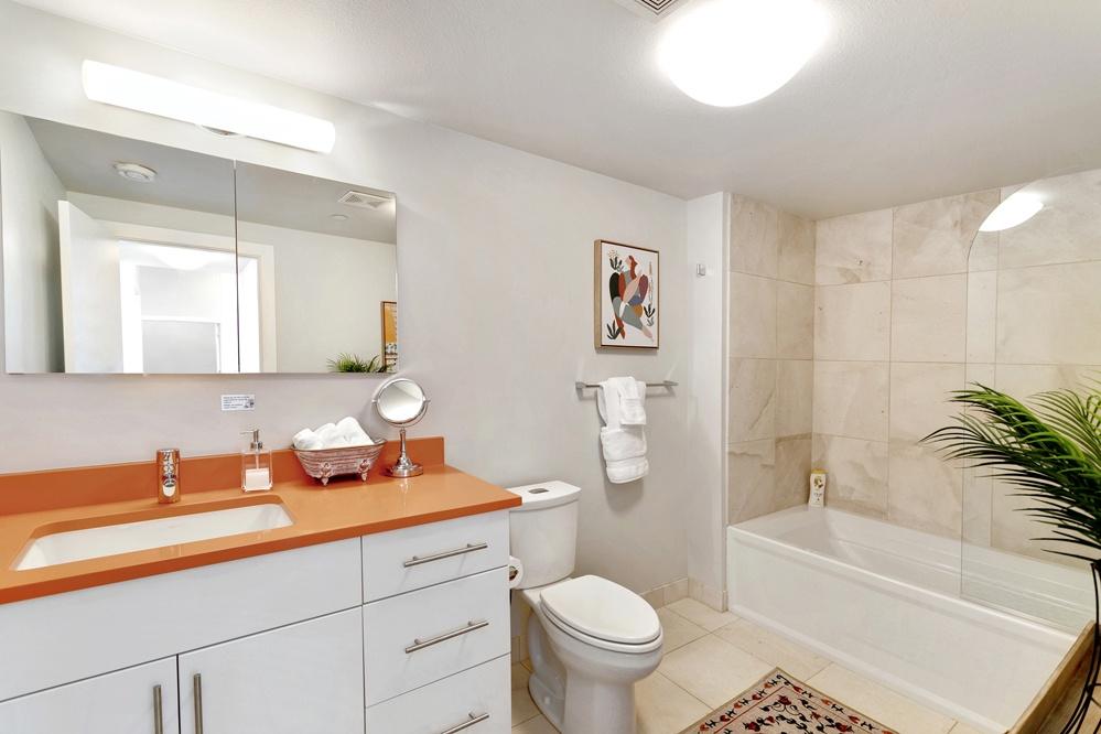 Bathroom 2: full bath with shower/tub combo