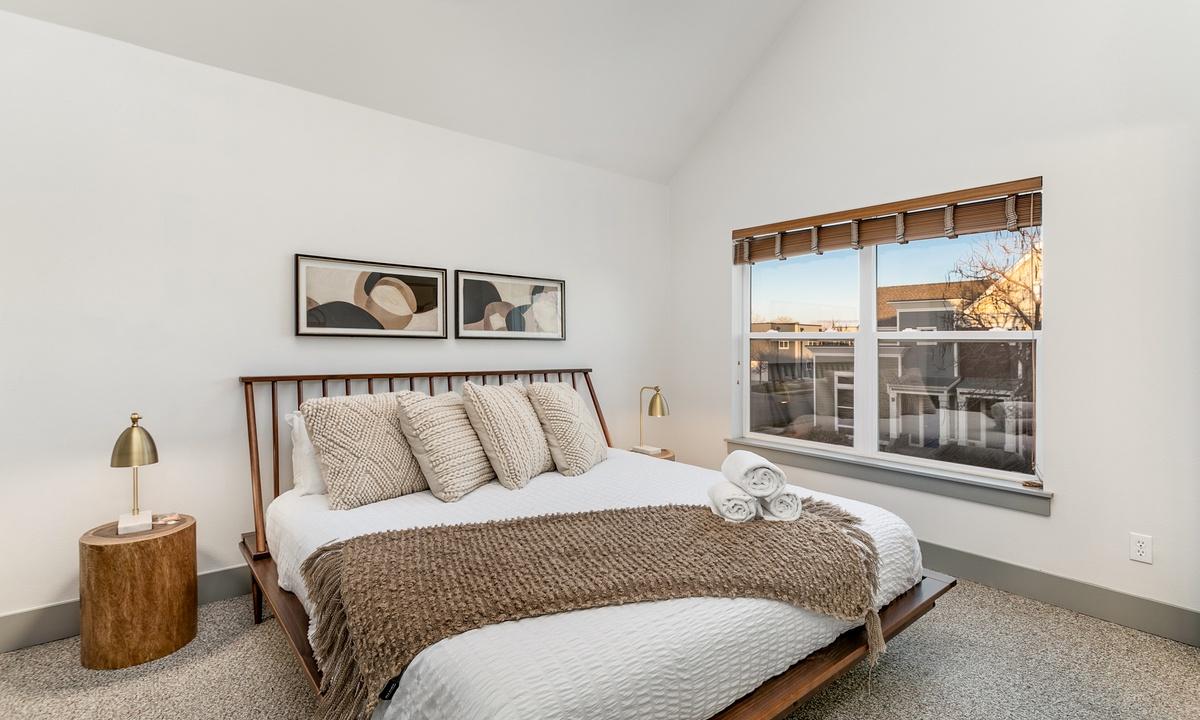 Bedroom 2: King bedroom with ensuite bath