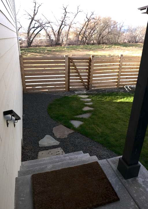enjoy the side yard for relaxing and BBQing!