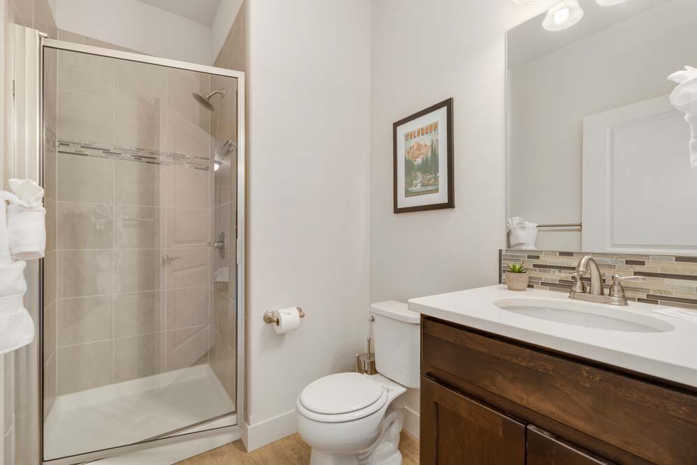 bathroom 1: main leve, walk in shower.
