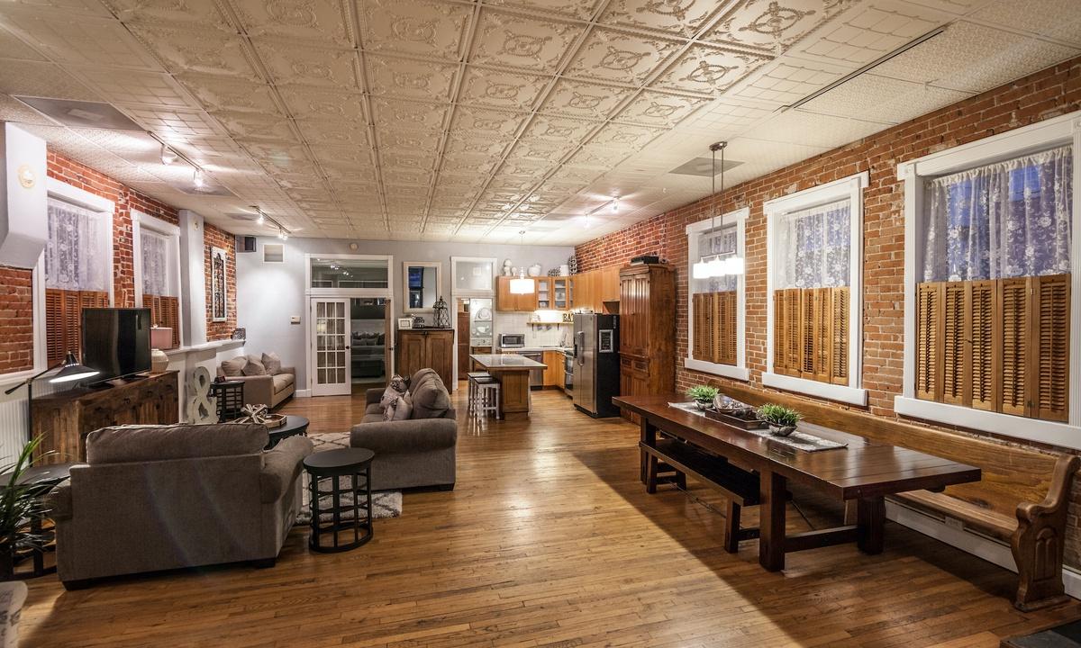 Open concept, loft style apartment