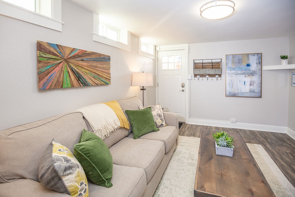 Living Room with Smart TV w/pull out sofa