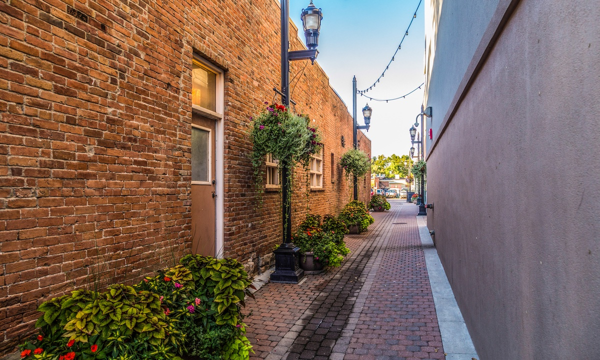 Beautiful European style alley ways.