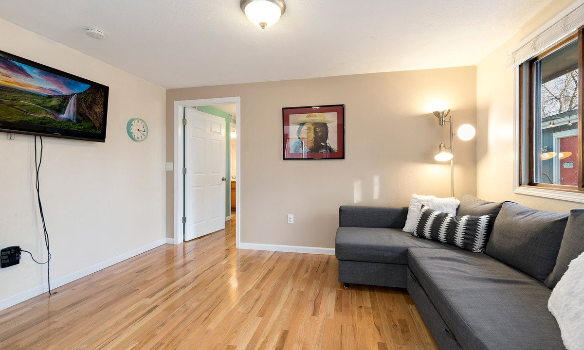family room with Smart TV