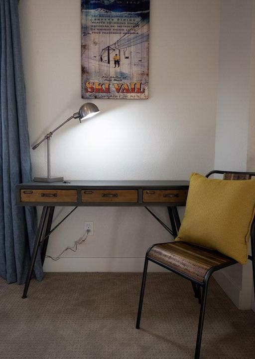Desk area in bedroom