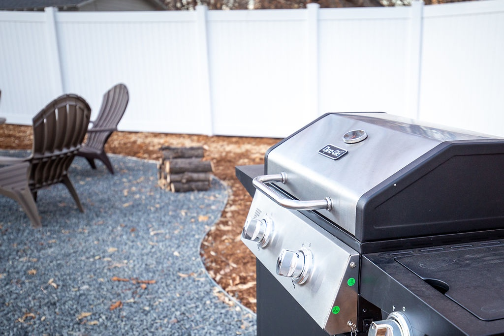 Grill  in shared outdoor common area