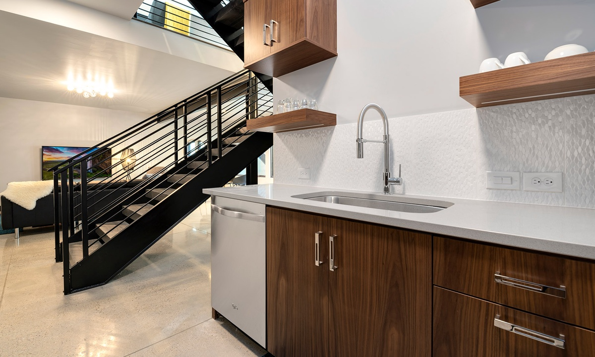 lower level bar/kitchenette