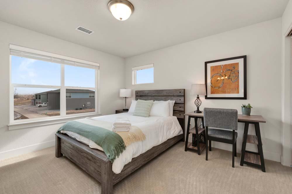 bedroom 2: Queen upstairs with ensuite bath