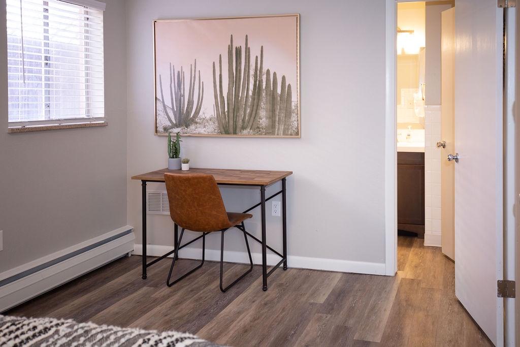 Desk/Workspace area in bedroom