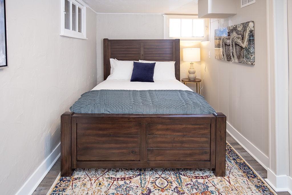 Bedroom 2: Queen, downstairs